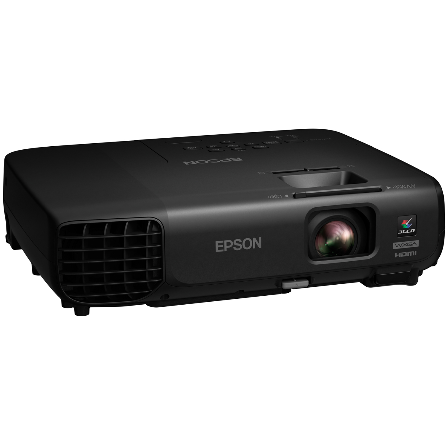 Проектор Epson EB-W03 LCD WXGA, 1200х800, 10000:1,  2700 Lm, 5000hrs, HDMI, D-sub, S-video, USB, Speaker, Black