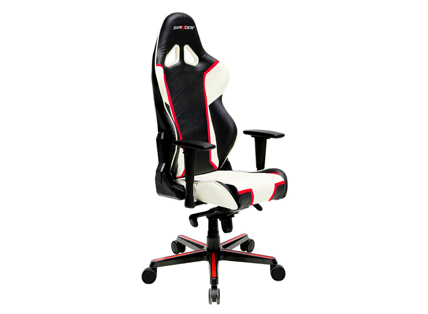 DXRacer Racing OH/RH110/NWR, Gamer weight 113kg / height 185cm, PU Cover - Black/White/Red,Gas Lift 4 Class,Tilt Mech-Angle 135* 2