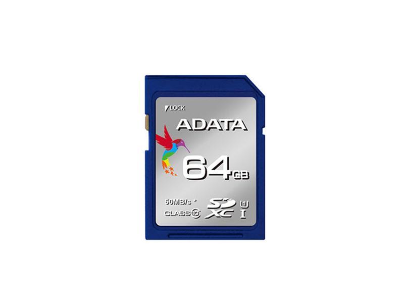64Gb Premier SDXC/SDHC UHS-I, ADATA Class10