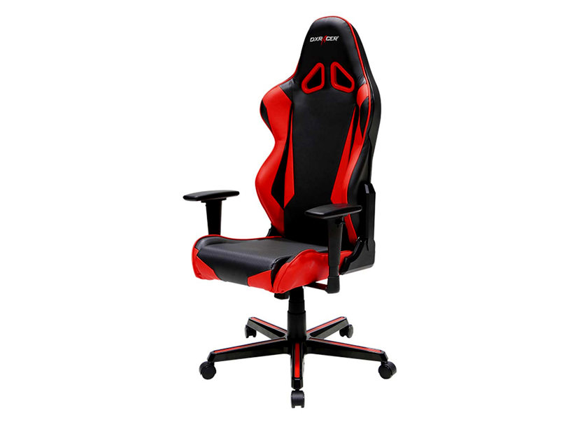 DXRacer Racing OH/RM1/NR, Gamer weight 113kg / height 185cm,PU Cover-Black/Black/Red,Gas Lift 4Class,Tilt Mech-Angle 135*