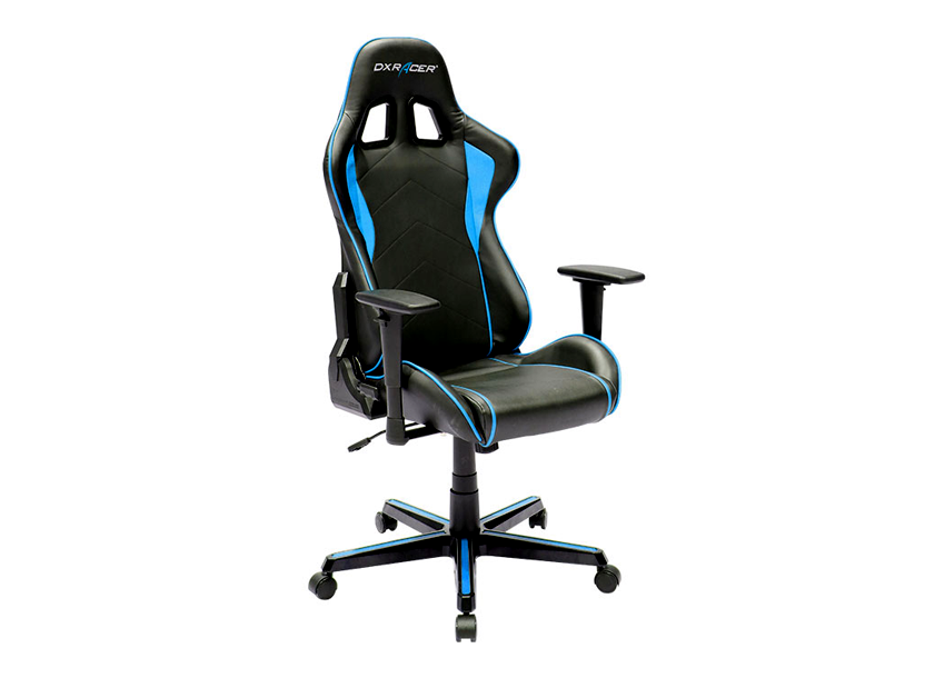DXRacer  Formula OH/FH08/NB, Gamer weight 91kg / height 175cm,PU Cover-Black/Black/Blue, Gas Lift 4 Class, Tilt Mech-Angle 135* 2