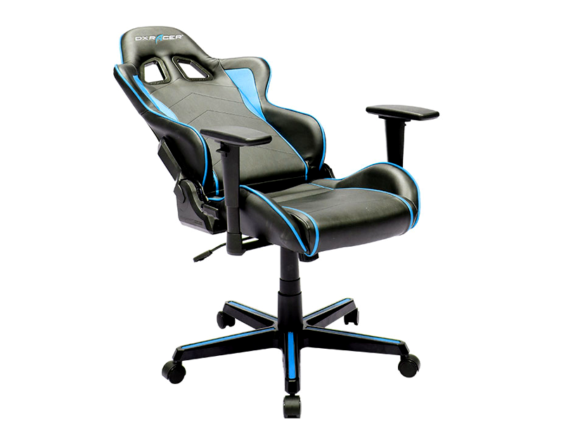 DXRacer  Formula OH/FH08/NB, Gamer weight 91kg / height 175cm,PU Cover-Black/Black/Blue, Gas Lift 4 Class, Tilt Mech-Angle 135* 3