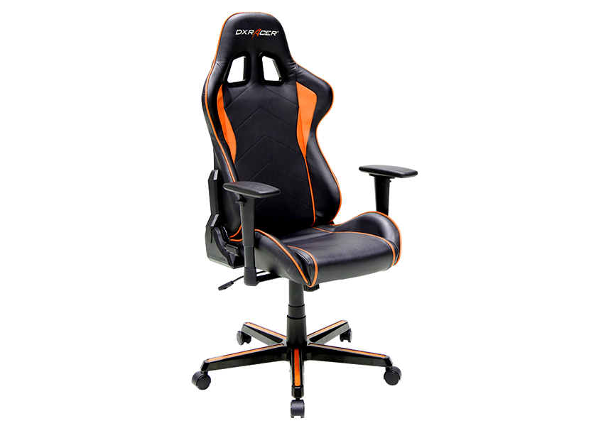 DXRacer Formula OH/FH08/NO, Gamer weight 91kg / height 175cm,PU Cover-Black/Black/Orange, Gas Lift 4 Class, Tilt Mech-Angle 135* 4