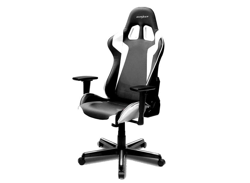 DXRacer  Formula OH/FH00/NW,Gamer weight 91kg / height 175cm,PU Cover-Black/Black/White,Gas Lift 4 Class,Tilt Mech-Angle 135* 2