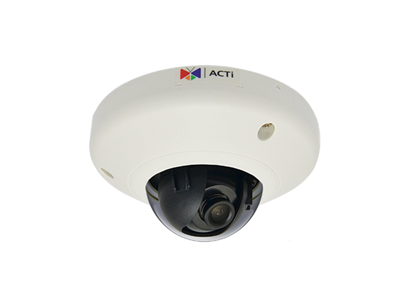 "ACTi E97, 10.0Mpixel PoE Indoor miniDome Surveillance Camera, 1/3.2"" CMOS, F1.8, 3648x2736, MicroSD/SDHC/H.264,MJPEG/HP video compression, Pan/Tilt"