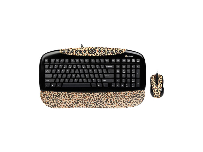 Сет клавиатура мышь G-Cube Kit Keyboard GKSL-2173B Lux Leopard Brown