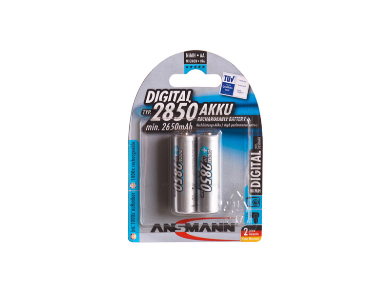 Battery Ansmann AA, (HR6), 1.2V/2850mAH  (5035082) 1pcs (2pack)