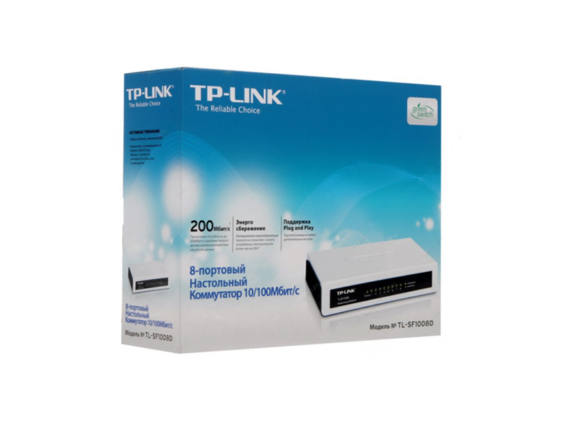 TP-Link TL-SF1008D 8-port 10/100 Mbps
