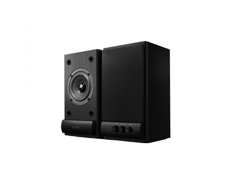 "F&D R215 (Black, 2x3W RMS(3""), 64-20kHz, 62dB, Magneticaly Shield, Treble, Wooden)"