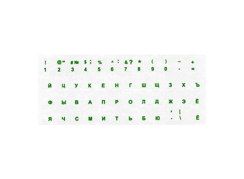 Sticker tastatură RU/RO 11x13 mm