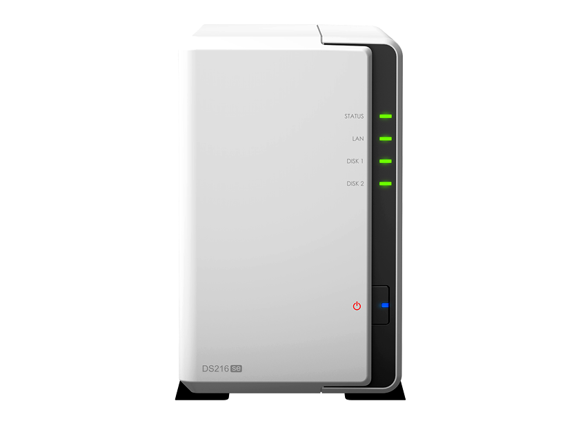 "Synology DS216se, 2-bay NAS Server, Internal HDD/SSD : 3.5"" or 2.5"" SATA(II) x2, Hardware: CPU 800MHz, Ram 256MB, USB 2.0 x2, LAN Gigabit x1; iOS/Andr 2"