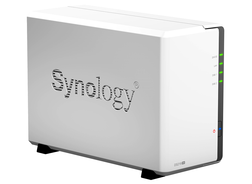 "Synology DS216se, 2-bay NAS Server, Internal HDD/SSD : 3.5"" or 2.5"" SATA(II) x2, Hardware: CPU 800MHz, Ram 256MB, USB 2.0 x2, LAN Gigabit x1; iOS/Andr 5"