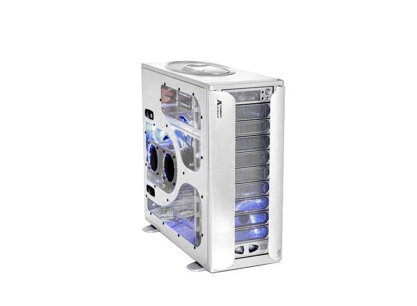 ARMOR VA8004SWA FulTower ATX, Aluminium, 4-coolers, Audio&2xUSB2.0&IEEE1394, Transparent SidePanel, Silver Thermaltake 2