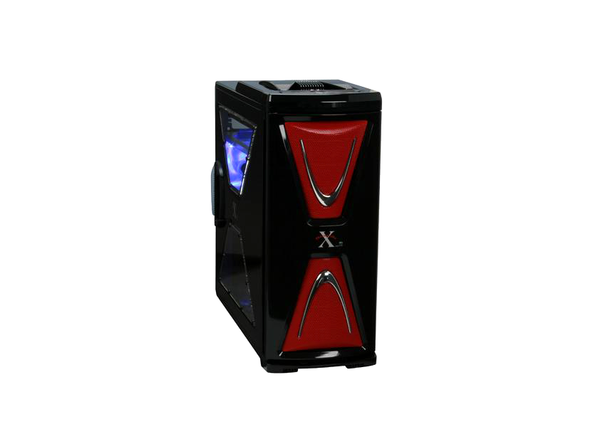 XASERvi VG4000BWS FullTower ATX, 4-coolers, Audio&2xUSB2.0&IEEE1394&E-SATA, Transparent SidePanel, Black/Red Thermaltake 1
