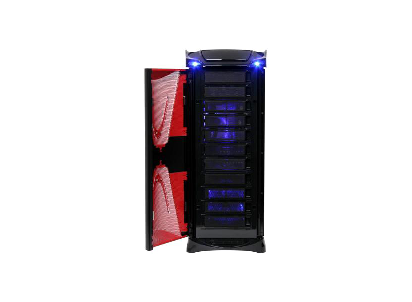 XASERvi VG4000BWS FullTower ATX, 4-coolers, Audio&2xUSB2.0&IEEE1394&E-SATA, Transparent SidePanel, Black/Red Thermaltake 2