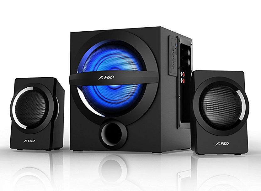 F&D A140X Black, 2x12W (3'), 13W subwoofer (4'), RMS 37W, 65dB, BT 4.0, USB (MP3/WMA) reader, Digital FM, Multi-Color Decorative LED, Remote Control 1