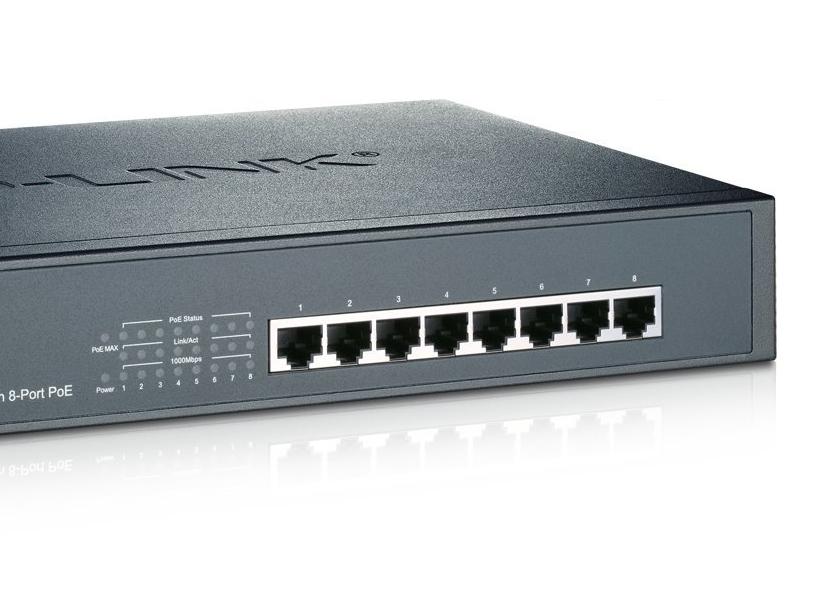 TP-Link TL-SG1008, Switch 8-port 10/100/1000 Mbps, steel case