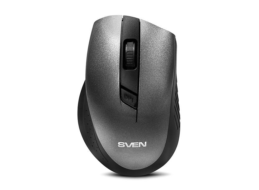 SVEN RX-325 Wireless 2.4GHz, Laser, Nano Reciver, 600/1000 dpi, USB, Gray 4