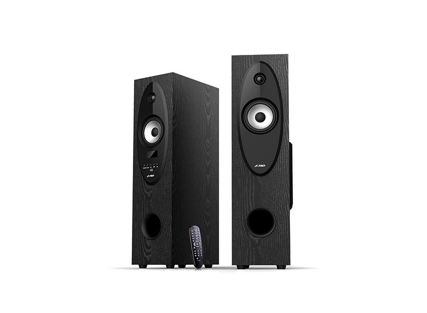 "F&D T-30X (Black, 2x28W RMS (4""+1""), subwoofer 6.5"", 20Hz-20kHz, 60dB, USB, FM, Karaoke, LCD, Bluetooth 4.0, Remote Control)"