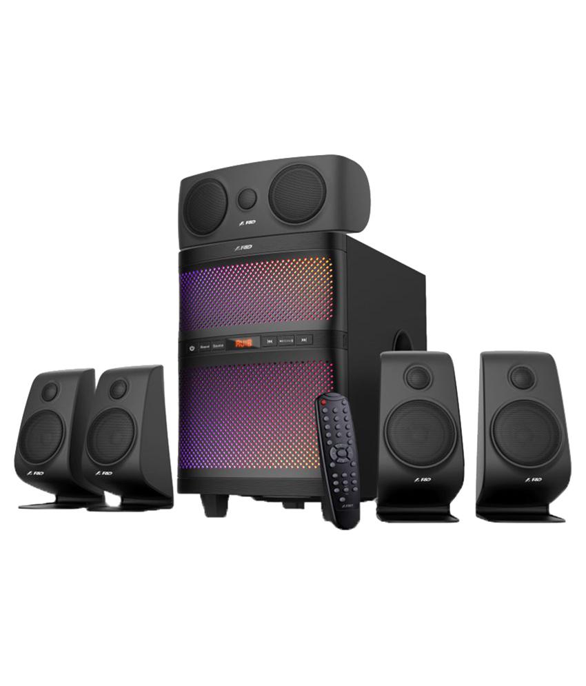 F&D F5060X 5.1 Black, 5x15W(3'+1'), 1x60W(8') subwoofer, RMS 135W, 25~85Hz/60Hz~20kHz, 73dB, BT4.2, USB, FM, AUX, Multicolor LED-light, Remote