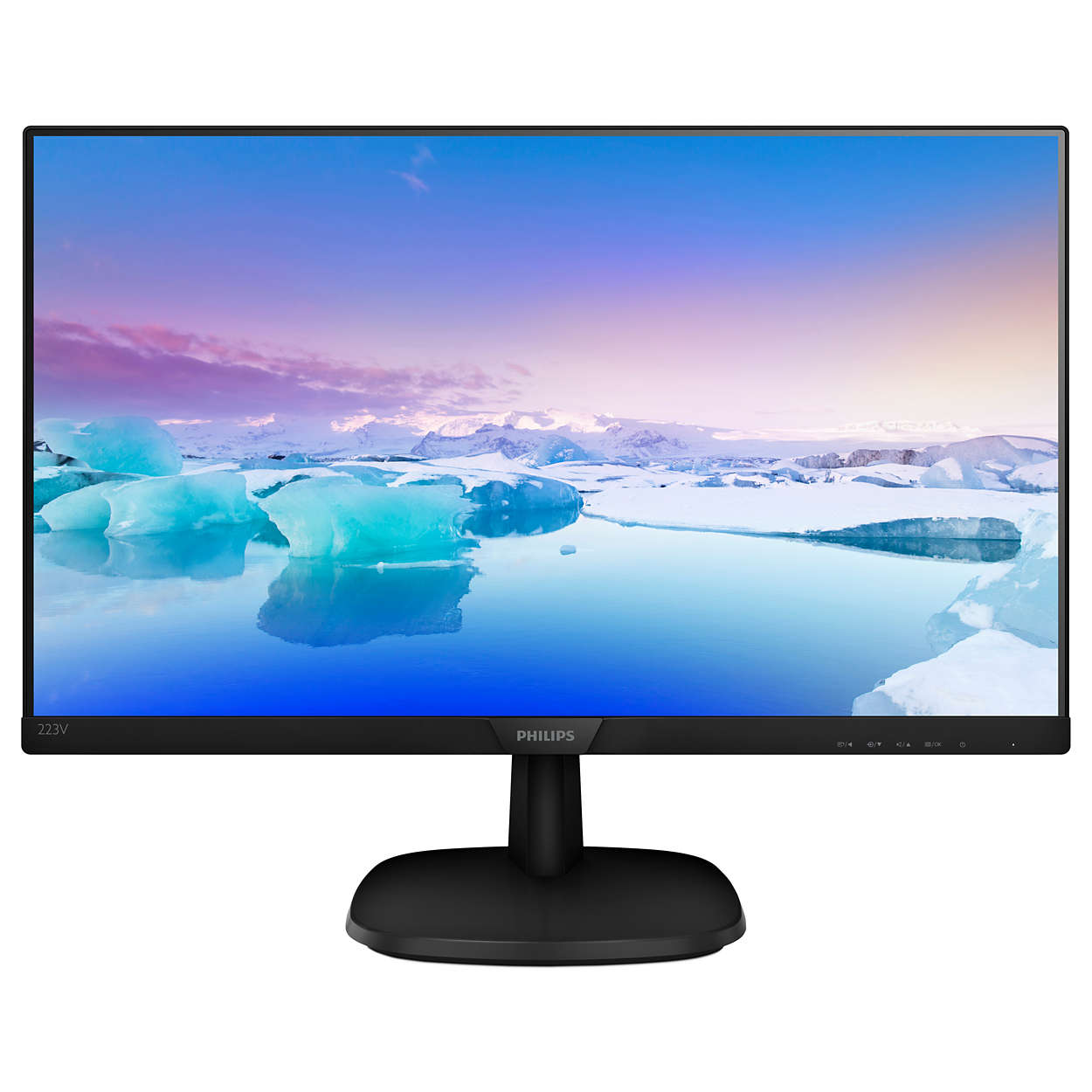 "Monitor 21.5"" WideScreen 0.248 Philips 223V7QHAB, IPS W-LED, 1920*1080@60, 1000:1(10.000000:1), 5ms, 250cd, D-Sub, HDMI, Speakers, Black"