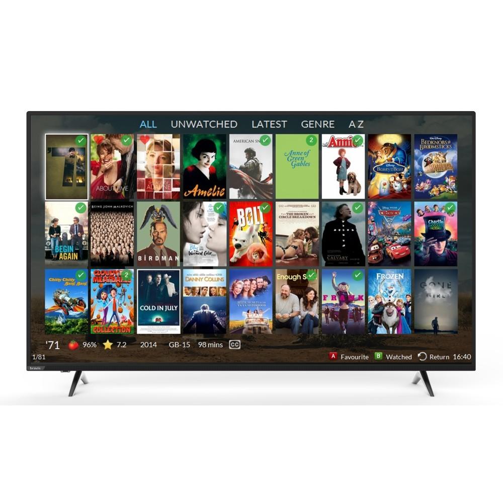 """Televizor 55"""" FullHD BRAVIS LED-55E6000 Smart+T2 black"""