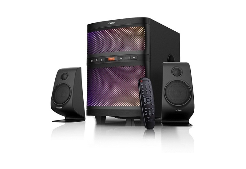 F&D F580X Black, 2x17.W (3'), 35W subwoofer (8'), RMS 70W, 70dB, BT 4.2, USB, FM, Multicolor LED-light, LED-screen, Remote Control