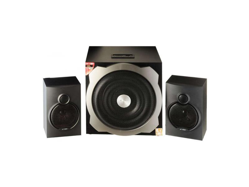 """F&D A521 (Black, MP3/WMA-Player USB/SD/MMC/MS, 2x16W RMS(4""""), 20W subwoofer(6.5""""), 20-20kHz, 65dB, Bass, All-Wooden)"""