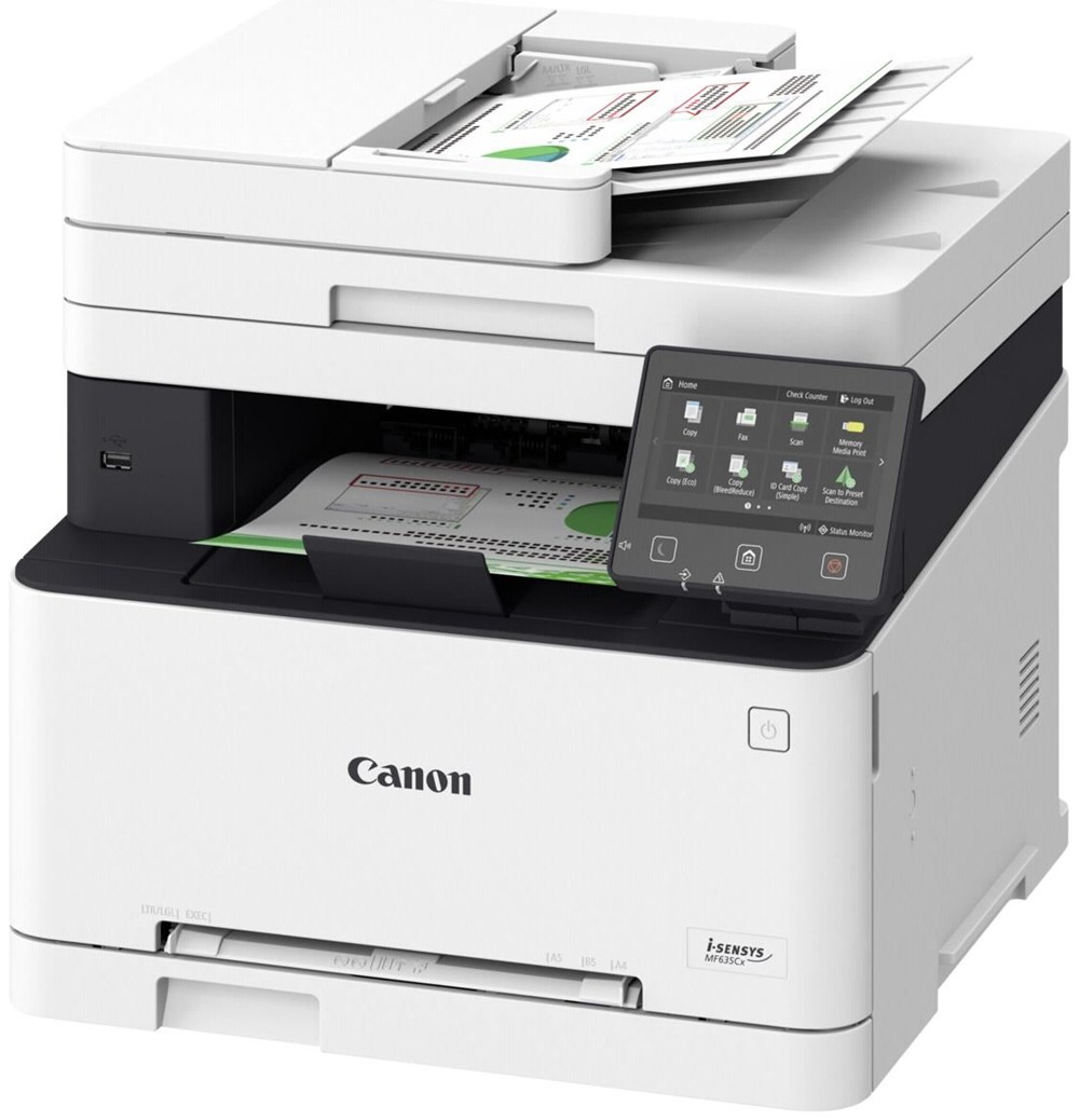 Canon i-Sensys MF633CDW Printer/Scanner/Copier/Scanner,  A4, 1200dpi, 18ppm, 1024Mb, ADF, Duplex, 8.9cm touchscreen , WiFi, LAN,USB2.0