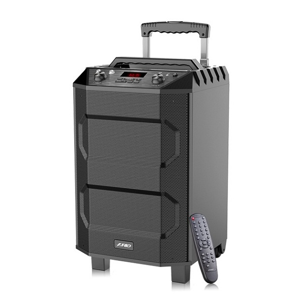 "F&D T5 (Portable, 33W (3"") Speaker & (10"") Subwoofer, 20Hz-20KHz, S/N Ratio:≥70dB, RC, FM, Karaoke,Mic, BT4.2, MP3 Player, battery up to 8 hours"