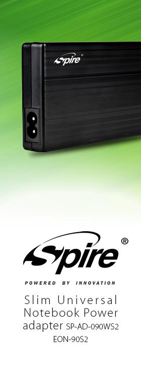 Spire SP-AD-090WS2 EON-90S2 Slim Universal Notebook Power adapter