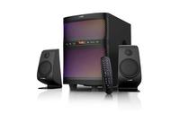 F&D F580X Black, 2x17.W (3'), 35W subwoofer (8'), RMS 70W, 70dB, BT 4.2, USB, FM, Multicolor LED-light, LED-screen, Remote Control