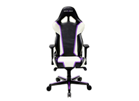 DXRacer Racing OH/RH110/NWV,Gamer weight 113kg / height 185cm, PU Cover - Black/White/Violet, Gas Lift 4 Class, Tilt Mech-Angle 135*