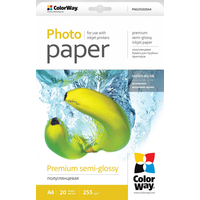 ColorWay Premium SemiGlossy Micropores Photo Paper A4, 225g, 20pcs