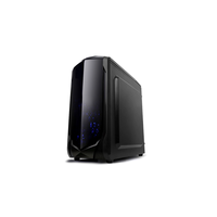 SPITZER 22  Gamer  mATX, w/o PSU, 2*120mm-Blue LEDcoolers,  Audio & 2xUSB3.0, Black