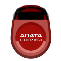 16Gb USB2.0 Flash Drive ADATA, DashDrive UD310, red (Read-18MB/s, Write-5MB/s), Jewell like