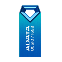 16Gb USB2.0 Flash Drive ADATA, DashDrive UC510, blue  (Read-18MB/s, Write-5MB/s), Featherlight Durability