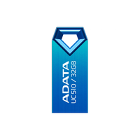 32Gb USB2.0 Flash Drive ADATA, DashDrive UC510, blue  (Read-18MB/s, Write-5MB/s), Featherlight Durability