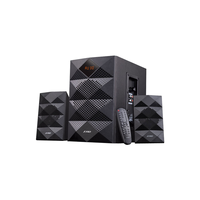F&D A180X Black, 2x14W (3'), 14W subwoofer (5.25'), RMS 42W, 70dB, BT 4.0, Plug & play USB reader, Digital FM, LED-screen, Remote Control