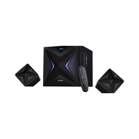 F&D F550X Black, 2x14W (3'), 28W subwoofer (6.5'), RMS 56W, 70dB, BT 4.0, NFC, USB/SD card port, FM, Multicolor LED-light, LED-screen, Remote Control