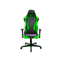 DXRacer Racing OH/RM1/NE, Gamer weight 113kg / height 185cm,PU Cover-Black/Black/Green,Gas Lift 4Class, Tilt Mech-Angle 135*