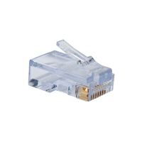 "RJ45 Modular Plug, Cat.5E, Long Type, 3u"" Gold plated, 100pcs bag"
