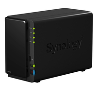 "Synology DS216, 2-bay NAS Server, Internal HDD/SSD : 3.5"" or 2.5"" SATA-III x2, Hardware: CPU 1.3GHz, Ram 512MB, USB3.0 x2, USB2.0x1,GLAN; iOS/Android"