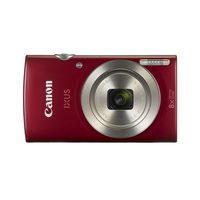 "Canon IXUS 175IS Red, 20.0Mpix, CCD 1/2.3, 32x(8x optical, 4x Digital)zoom, 2.7"" LCD, HD-Video 720p(25fps), USB"