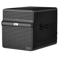 """Synology DS416j, NVR, 4-bay, support 3.5"""" or 2.5"""" SATA-III, CPU DualCore 1.3GHz, 512MB, USB 3.0 x1, USB 2.0 x1, GLANx1; iOS/Android, Cloud"""