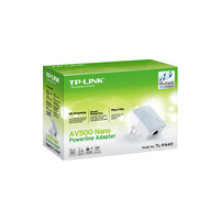 TP-LINK TL-PA411, Mini Powerline Ethernet Adapter, 500Mbps, HD Videostreaming, Plug and Play, Single Pack