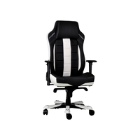 DXRacer Classic OH/CE120/NW, Gamer weight 136kg/height 190cm, PU Cover - Black/Black/White,Gas Lift 4Class,Tilt Mech-Angle 135* 1