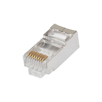"RJ45 Modular Plug, Cat.5E, Long Type, 30u"" Gold plated, 100pcs/bag"