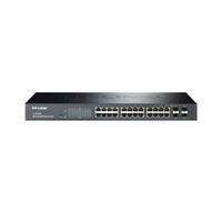 TP-Link TL-SG2424, SmartSwitch 24-ports 10/100/1000Mbit, 2 combo SFP slots, Tag-based VLAN, STP/RSTP/MSTP, IGMP V1/V2/V3 Snooping, 802.1P Qos, Rate Li