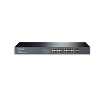 TP-Link TL-SG2216, SmartSwitch 16-ports 10/100/1000Mbit, 2 combo SFP slots, Tag-based VLAN, STP/RSTP/MSTP, IGMP V1/V2/V3 Snooping, 802.1P Qos, Rate Li